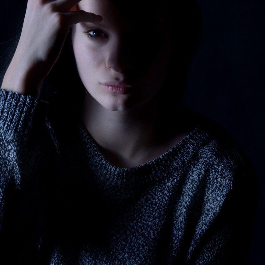 girl, depression, sadness